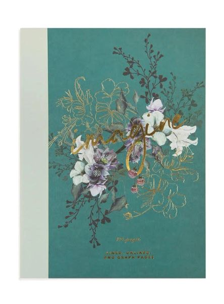CLOTHBOUND NOTEBOOK, JEWEL FLOWER