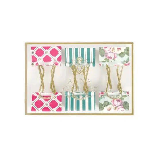 Amelie Floral Binder Clips