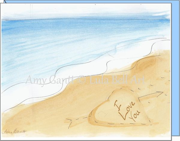 Anniversary - Love on the Beach Greeting Card