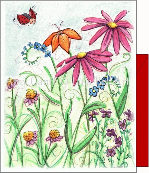 Birthday - Garden Ladybug Greeting Card
