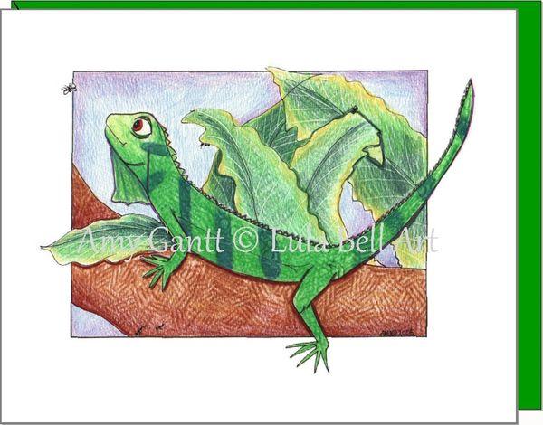 Child Birthday - Lounging Lizard Greeting Card