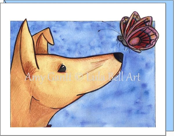 Encouragement - Scooby and Butterfly Greeting Card