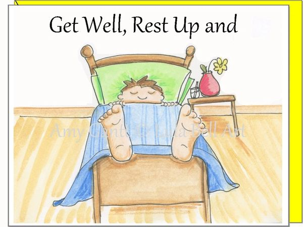 Get Well - Rest and Heal Greeting Card