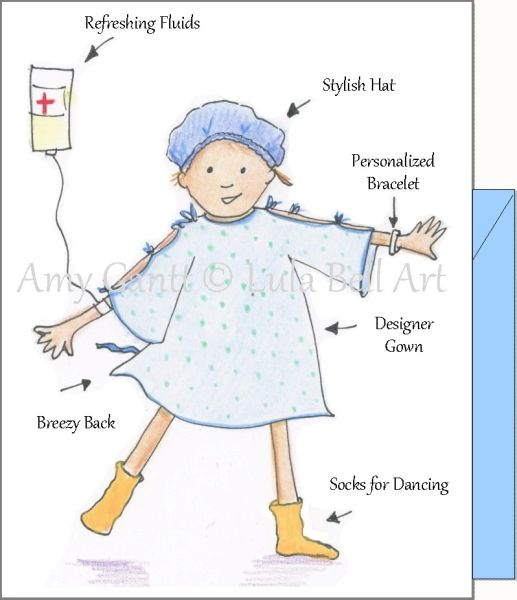 Get Well - Get Well Gown Greeting Card