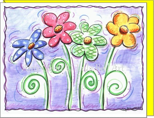 Thank You - Blooming in Color Greeting Card