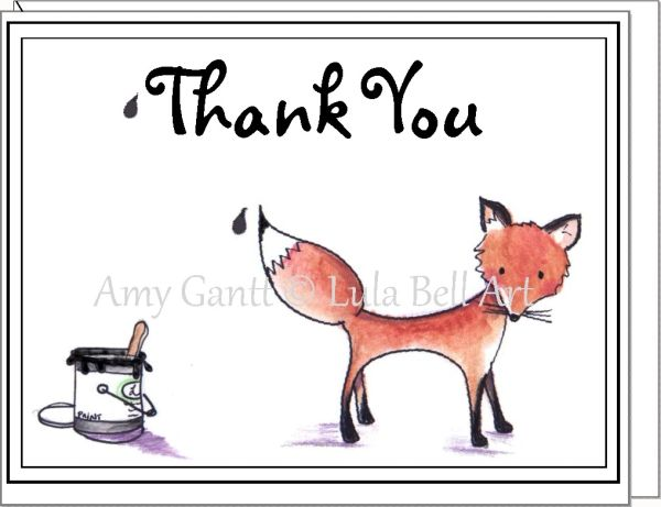 Thank You - Mr. Fox Greeting Card