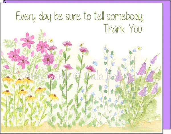 Thank You - My Garden Greeting Card