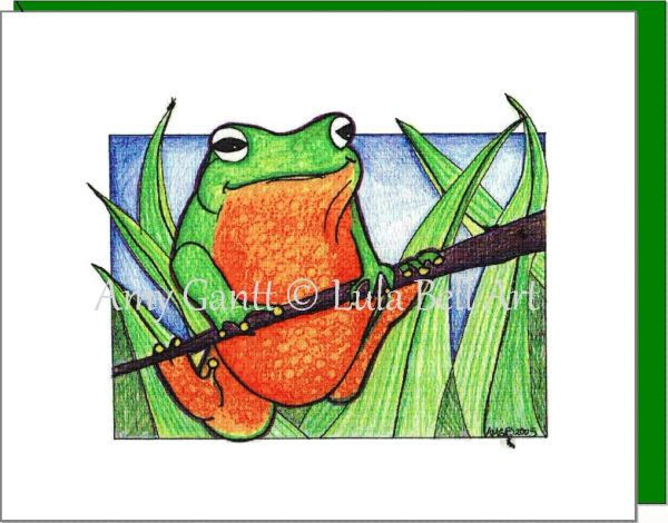 Friendship - Frog Hangout Greeting Card