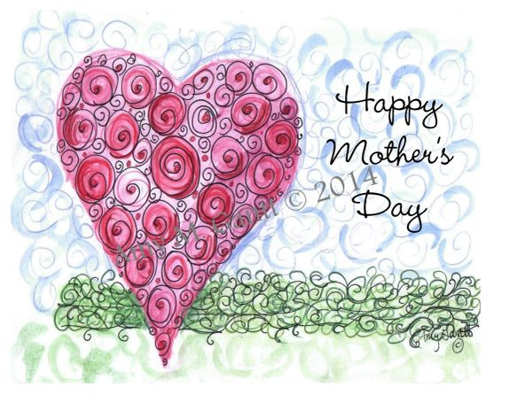Mother's Day Heart Greeting Card