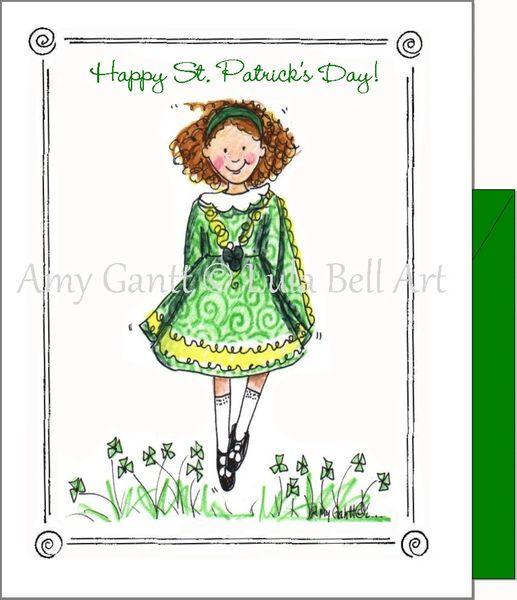 St. Patrick's - Irish Dancer Greeting Card