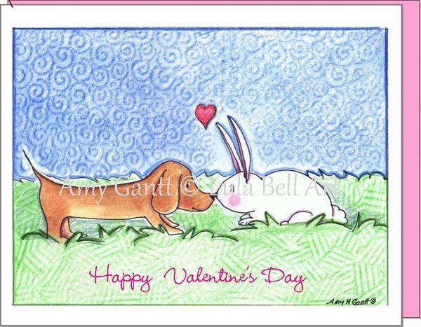Valentine - Puppy Love Greeting Card