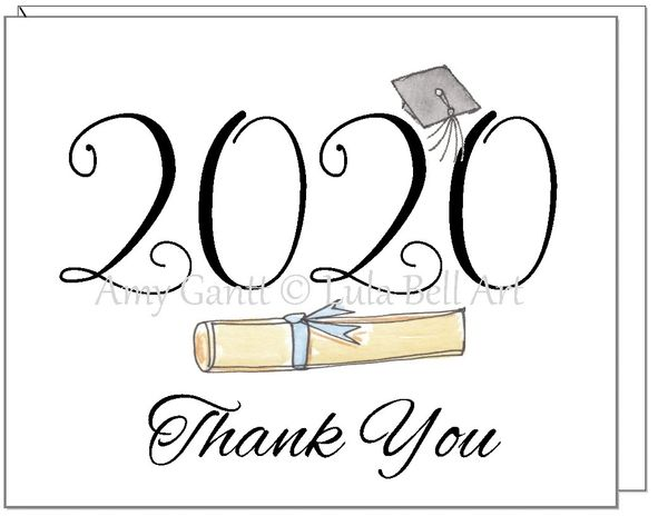 Thank You - 2020 Diploma Boxed Note Cards