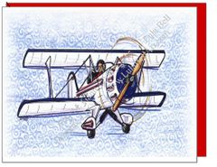 Biplane Boxed Note Cards