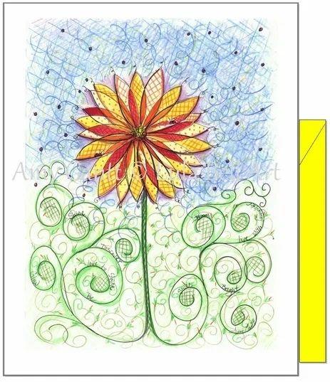 Birthday - Yellow Flower Greeting Card
