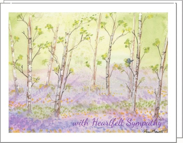 Sympathy - Quiet Forest Greeting Card