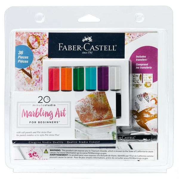 20 Minute Studio Marbling Art for Beginners - Faber-Castell