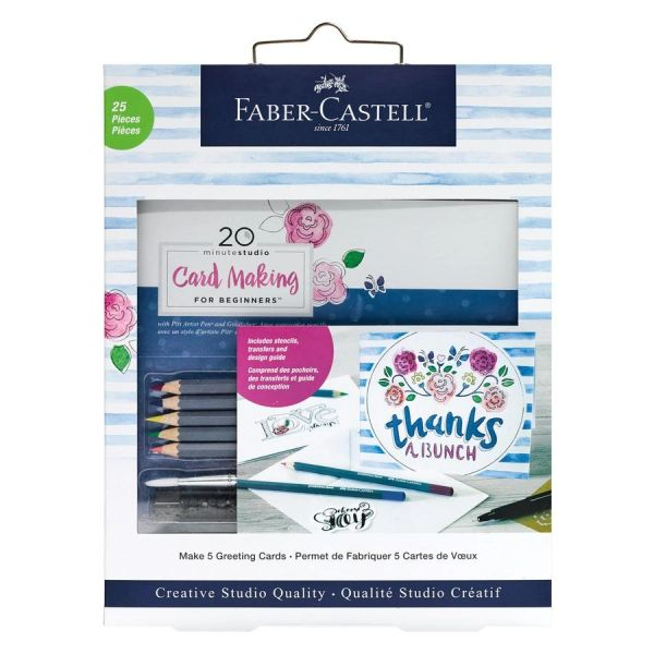 20 minute studio - Card Making FOR BEGINNERS- Faber-Castell