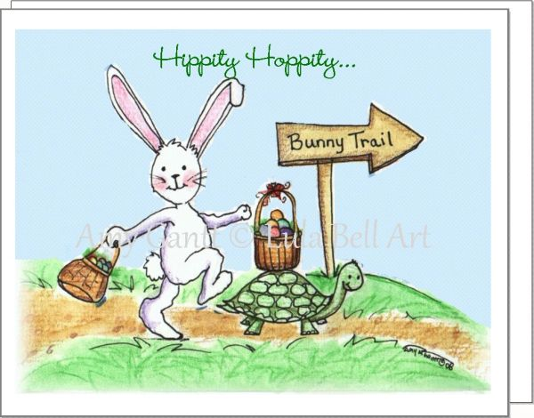 Easter - Bunny Trail Greeting Card