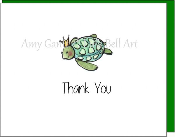 Thank You - Turtle Princess Boxed Cards