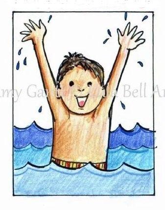 "Art Print - Swim Boy 8 x 10"""