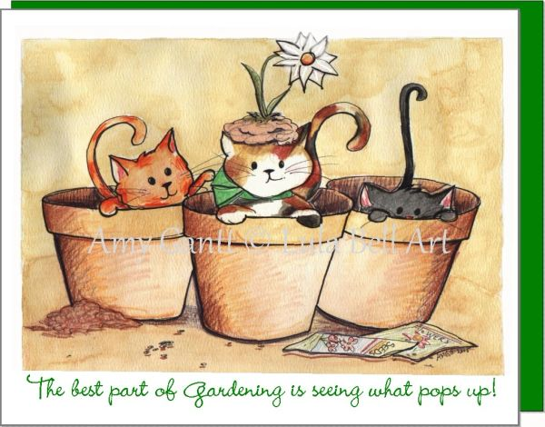Gardening Kitties Boxed Note Cards