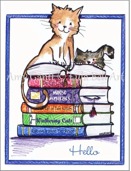 Purrfect Reading Boxed Note Cards