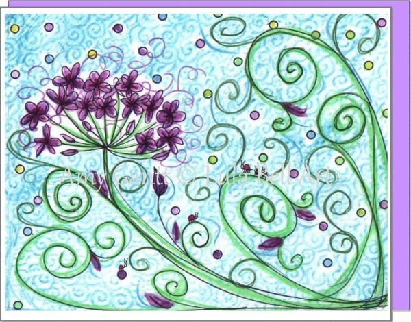 Purple Filaree Boxed Note Cards