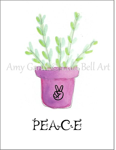 Succulent in Pink Pot Note Cards