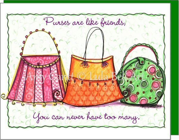 Thank You Purse Trio Note Cards