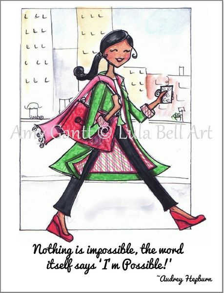 "City Girl ""Nothing is impossible,..."" Boxed Note Cards"