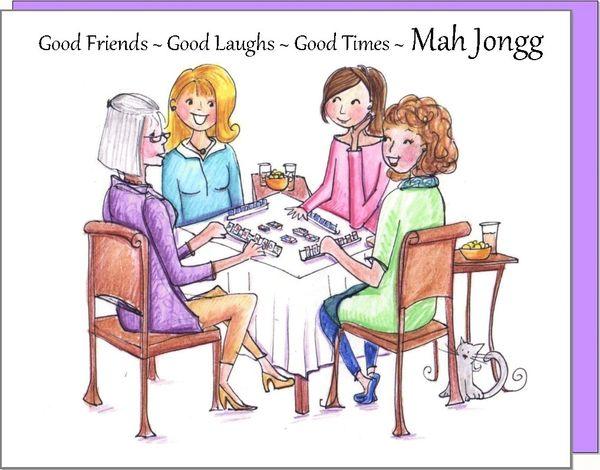 Mah Jongg Boxed Note Cards