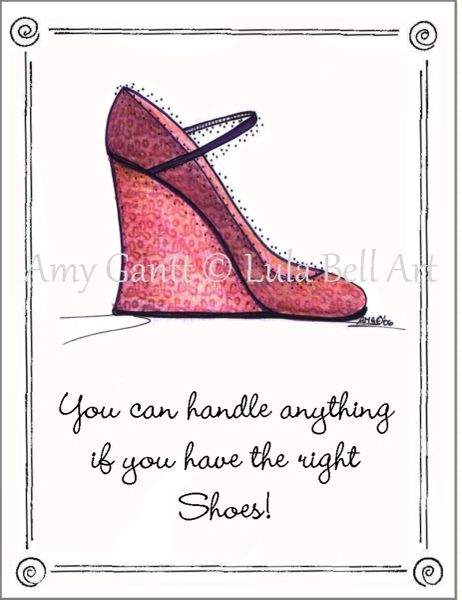 Red Wedge Shoe Boxed Note Cards
