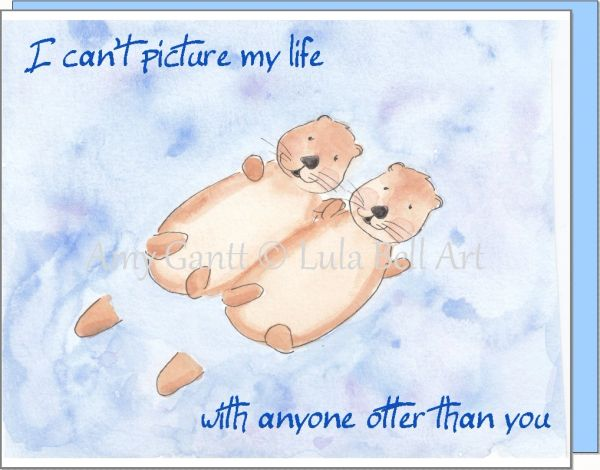 Otter Buddies Note Cards