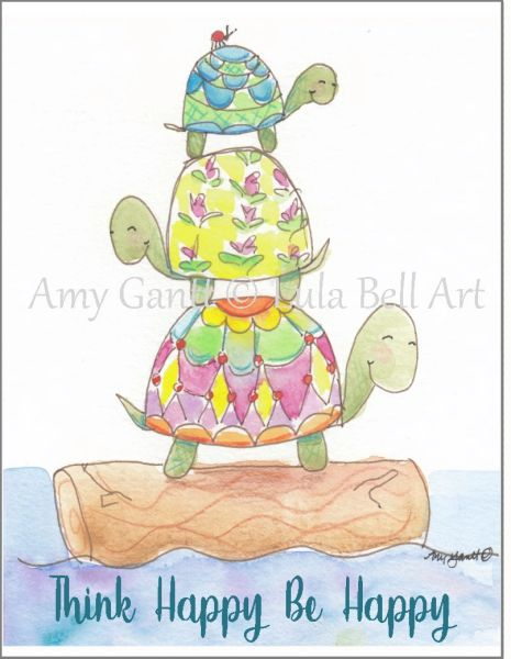 Turtle Trio Note Cards