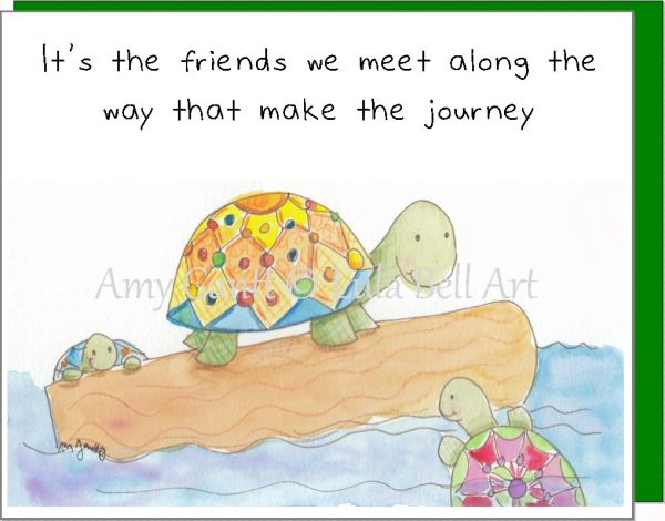 Turtles on a Journey Note Cards