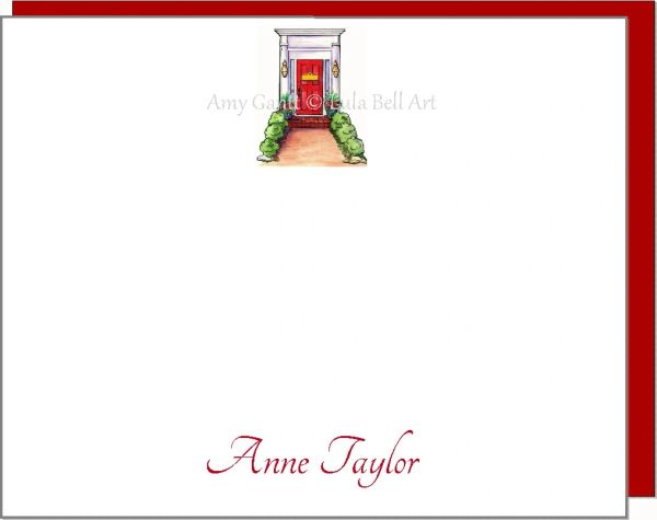 A Personalize - Red Door Flat Cards