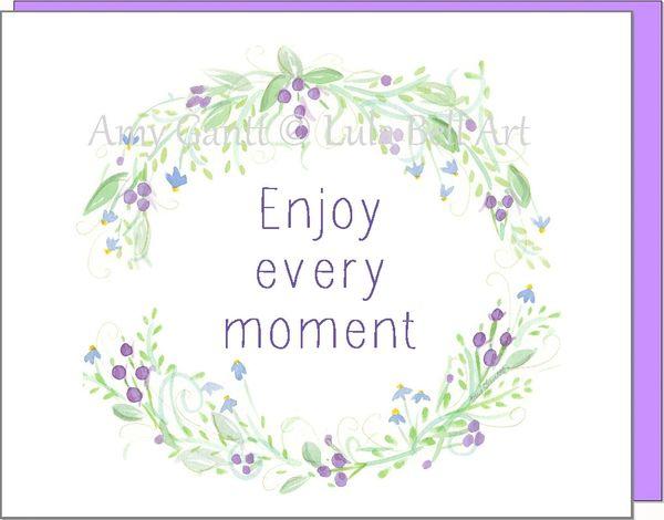 Purple Grape Wreath Note Cards