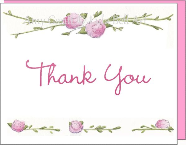 Thank You - Rose Garden Boxed Note Cards