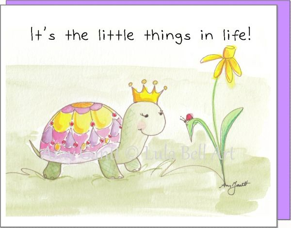 Princess Turtle and Ladybug Boxed Note Cards