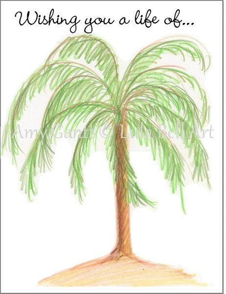 Congratulations/Retirement Palm Tree Greeting Card