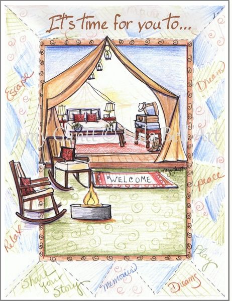Congratulations/Retirement Tent Sweet Tent Greeting Card
