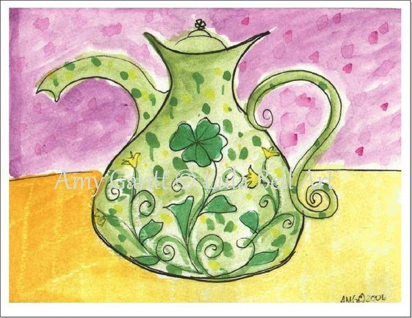 St.Patrick's Day - Irish Teapot Greeting Card