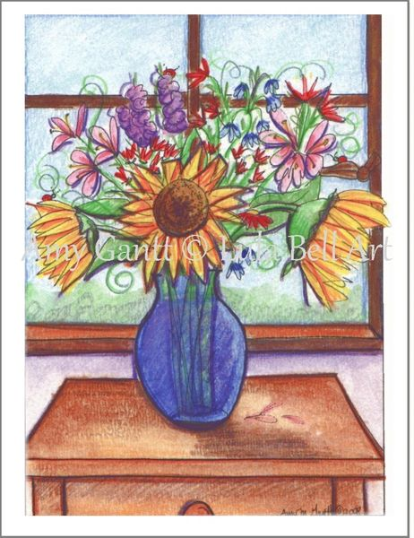 Thank You - Sunflower Bouquet Greeting Card