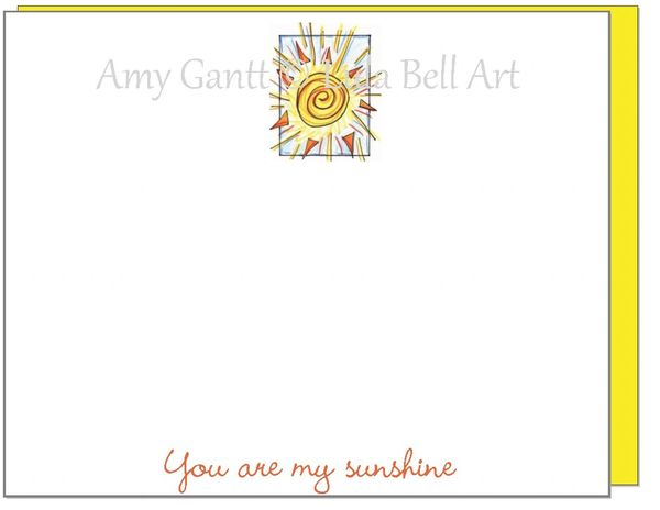 You are my Sunshine Flat Cards