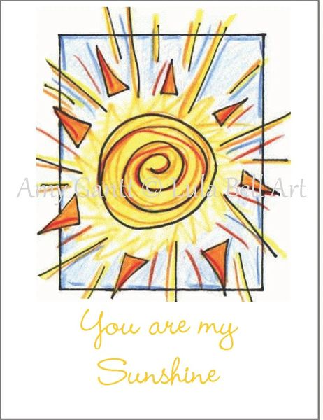 You are my Sunshine Note Cards