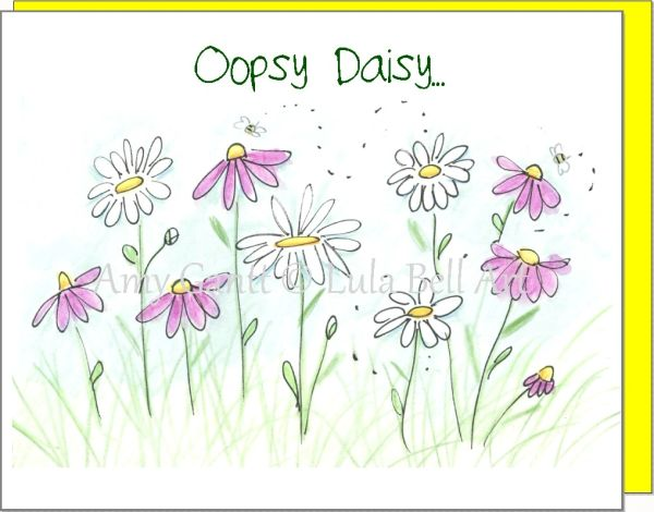 Get Well - Oopsy Daisy Greeting Card