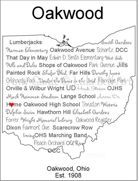 Oakwood Ohio Note Cards