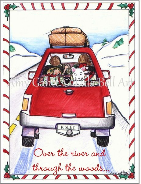Christmas - Red Sleigh Greeting Card