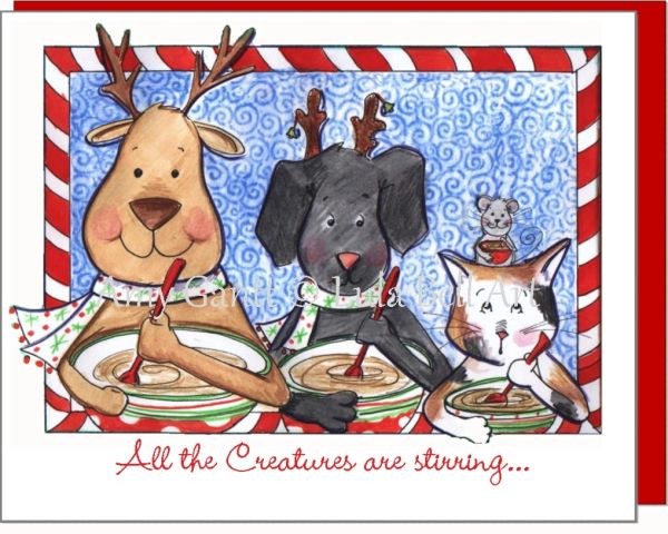 Christmas - All Creatures Stirring Greeting Card
