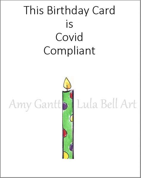 Covid Compliant Birthday Greeting Card